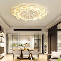 YooE современные светодиодные потолочные светильники для Гостиная поверхности номер крепление пульта Управление Кристалл Блеск дома декора