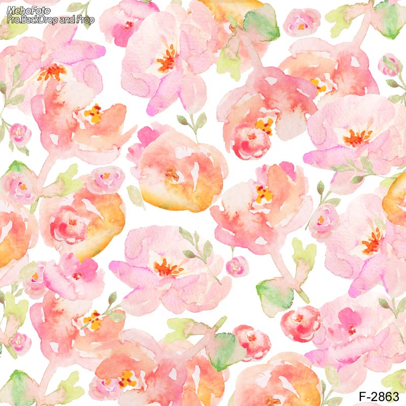 photography backdrops pink flowers blur photo background newborn baby photocall lovely photo studio F-2863