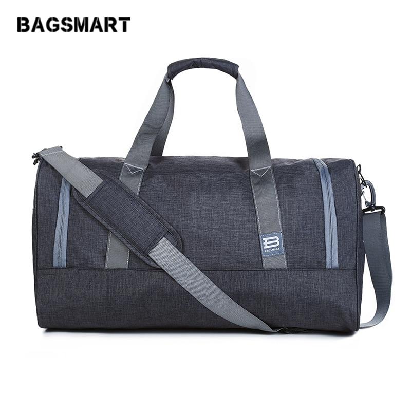 BAGSMART nouveau sac de voyage grande capacité hommes bagages à main voyage sacs de voyage sacs de week-end en Nylon sacs de voyage multifonctions