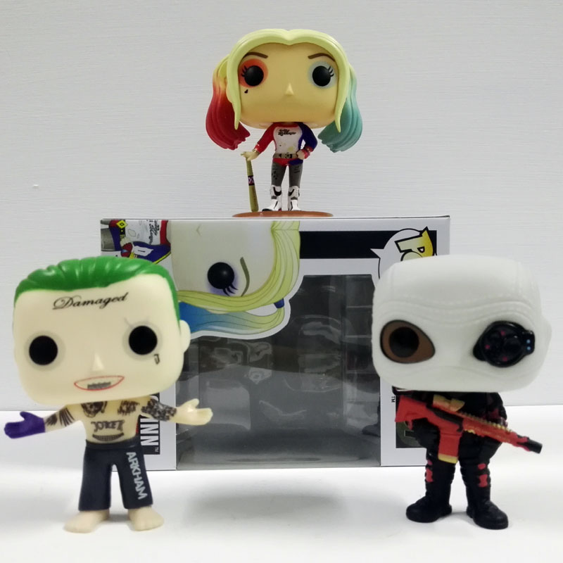 Funko Pop Suicide Squad Boomerang Batman Joker Harley Quinn Deadshot Masket Collectible Vinyl Figure PVC 10CM Model toys  funko vinyl invaders robot batman pvc action figure collectible model toy 12 30cm
