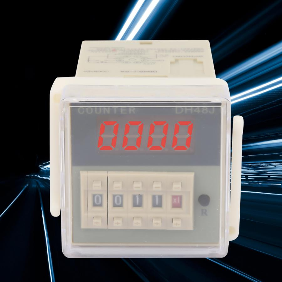 communication 1-999900 mechatronics Counting speed 30 times//second 8 pin for remote control Digital counter 220VAC digital counter relay