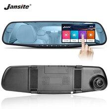 Jansite 4.3-inch Car DVR Dash cam Dual Lens Touch Screen car Camera Video Recorder Mirror With Rear view camera Auto Registrator