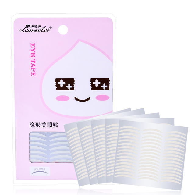 LAMEILA 120Pair/SET Makeup Clear White Eyelid Stripe Big Eyes Invisible Double Fold Eyelid Shadow Sticker Double Eyelid Tape