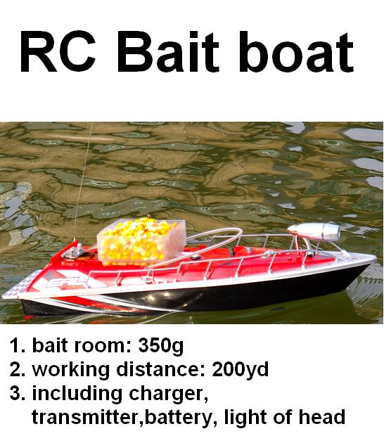 RC Bait Fishing Boat Working Distance 200 meters red + Car charger 3 hours rc boat clutch