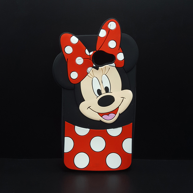 Fashion 3d Cartoon Mickey Minnie Mouse Bow Knot Soft Silicone Case