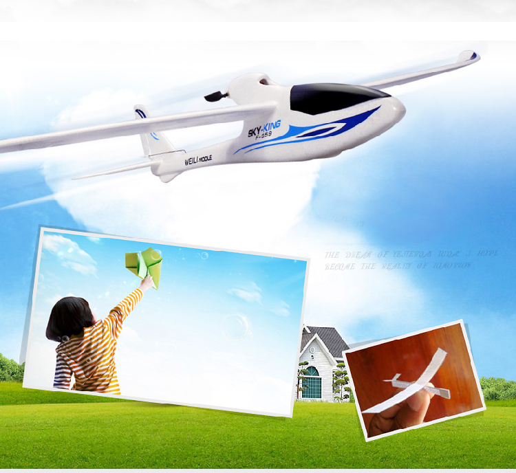 US $94 99 5% OFF|F959 Sky King 3 Channel RC Drone Airplane Push Speed  Glider Fixed Wing Plane Remote Control Airplane-in RC Airplanes from Toys &