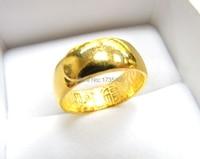 Чистый 999 Твердые 24 К кольцо из желтого золота/идеально гладкая Big Band Кольцо/12.38 г