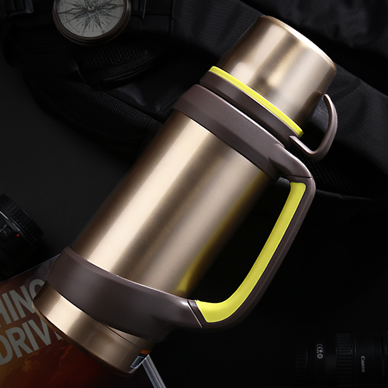 2000 ml outdoor heat preservation pot stainless steel kettle insulation kettle large capacity vacuum cup travel