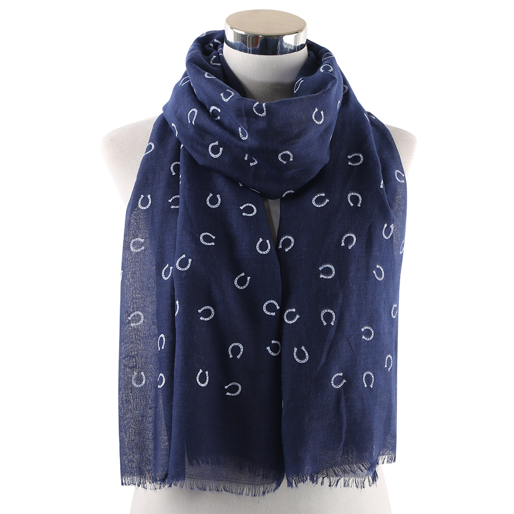 Winfox Fashion Autumn Spring Grey Navy Women Letter Scarves Shawl Ladies Scarf Neckerchief Wraps Echarpe in Women 39 s Scarves from Apparel Accessories