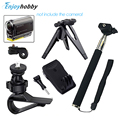 OliYin Sports Gopro Accessories Handheld Monopod Rotating Clip Mount Bundle For Sony Action Cam HDR AS20 AS15 AS100V AS30V AZ1