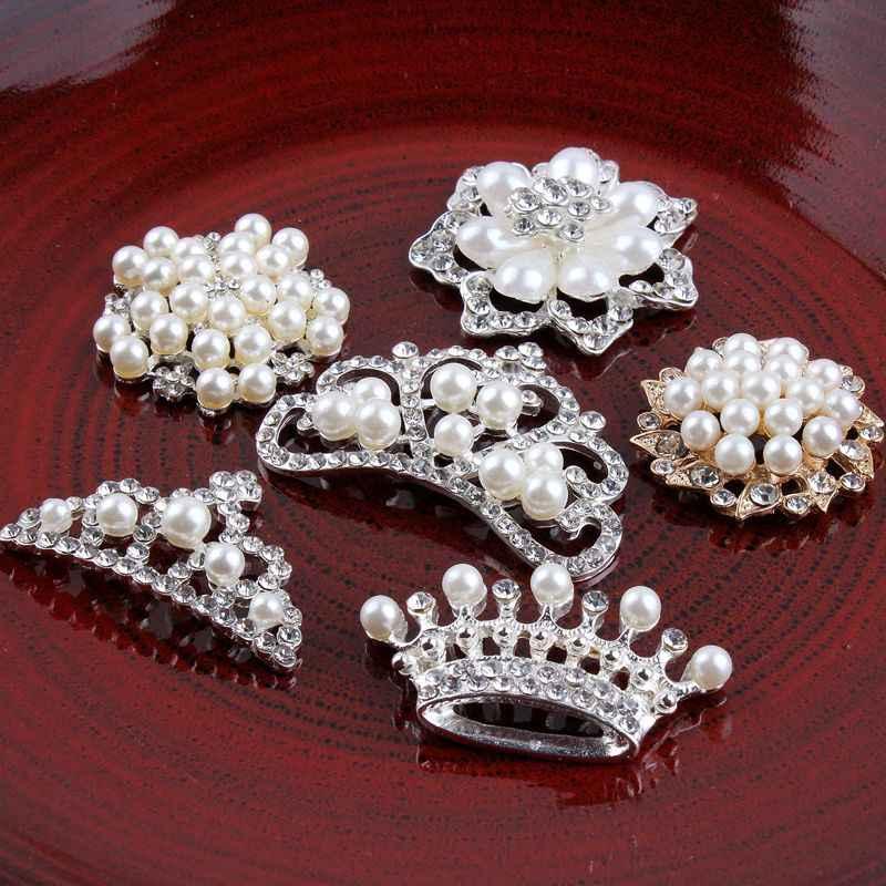 Prajna strass pérola emblemas coroa mandala flor liga botão acessórios para a decoração de roupas jeans apliques de cabelo vestido