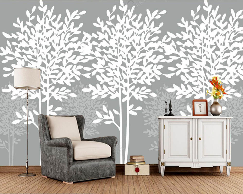 Papel de parede Modern simple gray wall abstract tree 3d wallpaper mural for bar cafe living room bedroom sofa TV wall kitchen Papel de parede Modern simple gray wall abstract tree 3d wallpaper mural for bar cafe living room bedroom sofa TV wall kitchen