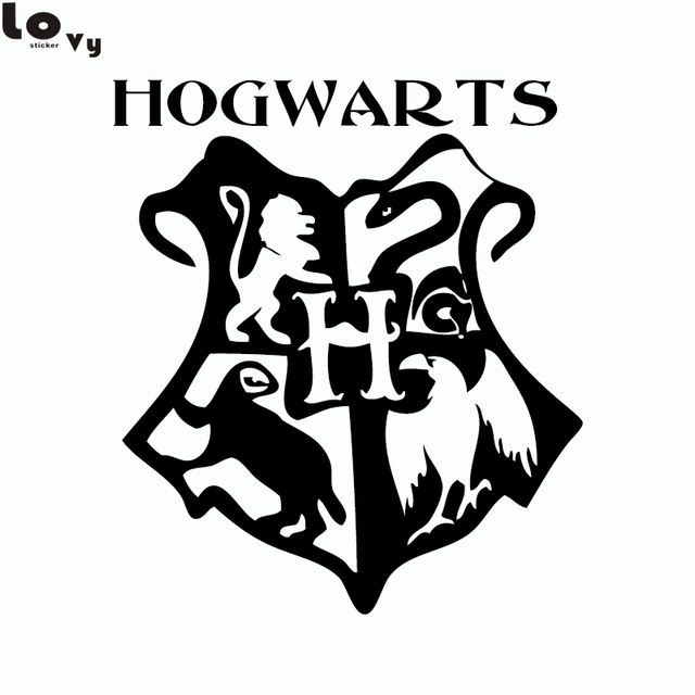 Classic Movie Harry Potter Hogwarts Coat Of Arms Cut Vinyl ...