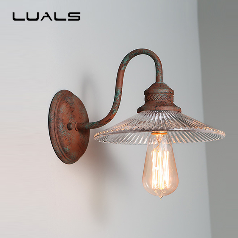Loft Industrial Wall Lights American Style Vintage Wall Lamp Bedroom Bedside Wall Lamps Contracted Metal Do old Wall Light|wall light|industrial wall lights|bedside wall lamp - title=