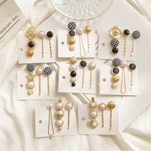 3pcs/set Fashion Korea Style Gold Color Star Heart Hair Clips Women Hairpin Pearl  Hairpins Barrette Hairgrip Accessorie