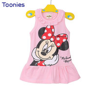 1Pcs Girls Dress Clothes Baby Girl Dresses Children Lovely Cartoon Kids Girl Princess Party Casual Dress