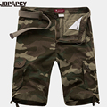 Pantalones cortos de camuflaje hombres de la moda 2017 hasta la rodilla más el tamaño corto de camuflaje militar del ejército para hombre bermudas masculina C0022