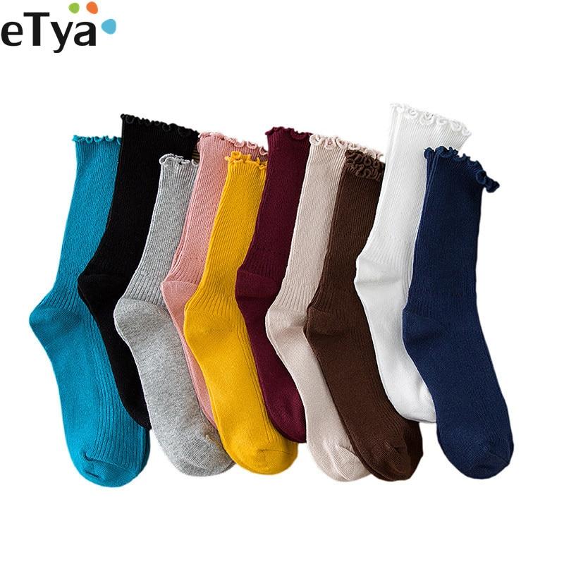 ETya 1Pair Fashion Women Warm Wool Socks Breathable Cute Spring Autumn Winter Cotton Short Retro Sox Gifts For Woman Hot Sale