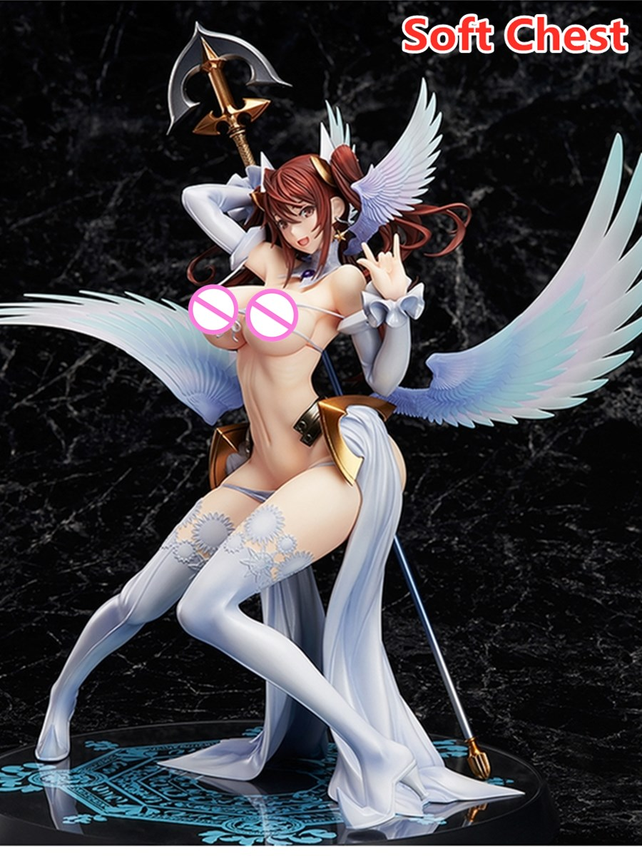 Raita's Magical Erika Kuramoto Anime Sexy Fighting Art Angel Girls Figures Soft Chest Dress up <font><b>dolls</b></font> BOX Collectible Model Toy image