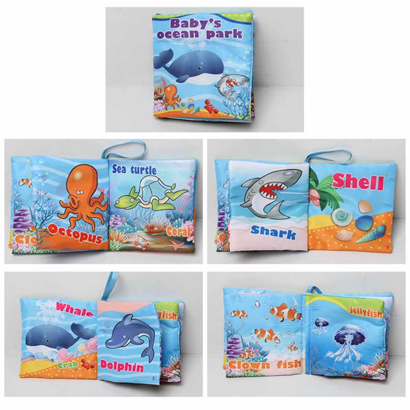Детские игрушки, животные, обезьяна/Сова/собака, игрушки для новорожденных, Обучающие Развивающие детские тканевые книги, милая тканевая книга для малышей