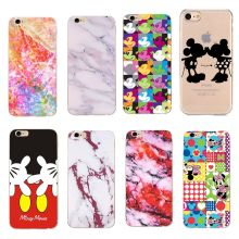 Fundas para iphone xs x funda de mármol Mickey Minnie Mouse funda para mujer funda para iphone xs max xr funda piel manzana bolsa(China)