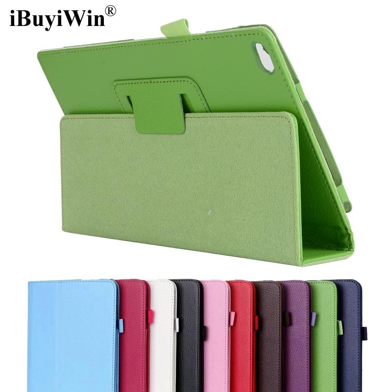 iBuyiWin Folding Folio Case for Lenovo Tab 4 8 TB-8504F TB-8504N Tab4 8.0 Flip Stand Cover PU Leather Case Fundas Coque+Film+Pen