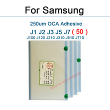 50pcs OCA Optical Clear Adhesive Glue Glass Lens Film &easy tear stick for Samsung J1 J2 J3 J5 J7 J110 j120 j210 j310 j510 j710