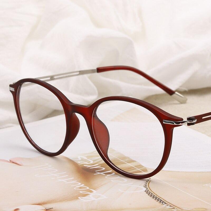 174a243006 TR90 Round Glasses Women Fashion Clear Myopia Optical Prescription Computer  Eyewear Frame Simple Design Women Glasses  2031-in Eyewear Frames from  Apparel ...