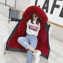 2019 New Fur Coat Parker Clothing Sweet American Fox Rabbit Detachable WomenS Slim Slimming Long Section