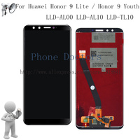 Black Full LCD DIsplay Touch Screen Digitizer Assembly For Huawei Honor 9 Lite Honor 9 Youth