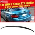 Для F22 задний спойлер крыло 2-Series 220i 228i 230i 235i M Стиль задний спойлер из углеродного волокна задний багажник автомобильные гоночные аксессуары...