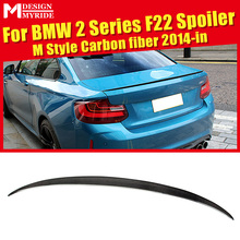 For F22 Rear Spoiler Wing 2-Series 220i 228i 230i 235i M Style Carbon Fiber Rear Spoiler Tail Trunk Car Racing Accessories 2014+