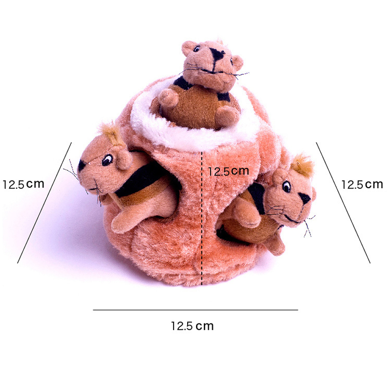 Mini Stuffed Toys Simulation Squirrel Stuffed Plush Lovely Toy Animal Kids Toy Decorations Birthday Gift For Children (3)