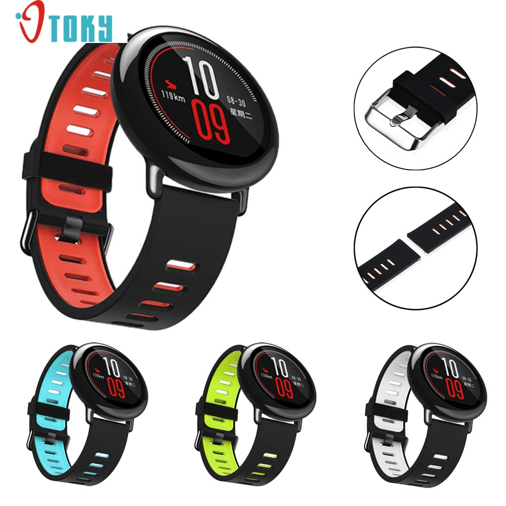 22mm Replacement Silicone Sports Strap Band For Xiaomi HUAMI AMAZFIT Smart Watch H30 SEP5 retro flowering blossom pattern voile gossamer scarf
