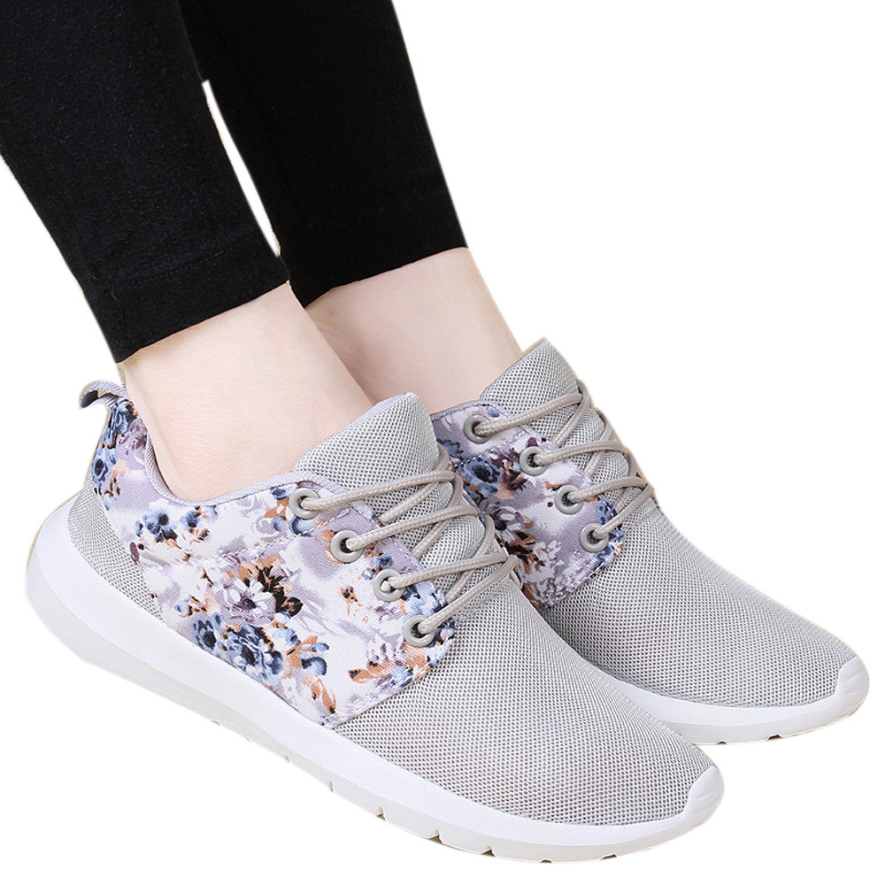 Blue,41,US:8 Suma-ma Womens Mesh Flat Cotton Casual Sports Shoes Walking Stripe Sneakers Couples Loafers Soft Shoes