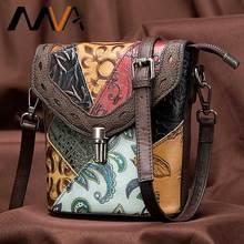 Mva bolsa de luxo bolsas de couro genuíno das mulheres/senhoras pequenas bolsas de ombro do vintage crossbody sacos para as mulheres 86388