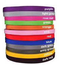 2cm wide 10.94 yards(10M)/lot pure color thickening PP webbing for bag luggage handbag,braided strap,backpack belt