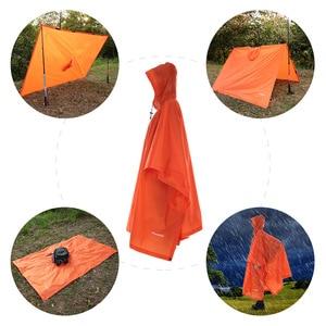 Image 5 - TOMSHOO çok fonksiyonlu hafif yağmurluk Hood ile açık kamp çadırı Mat yürüyüş bisiklet yağmur kılıfı panço yağmurluk