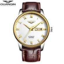 Top Reloj de la Marca GUANQIN Hombres Relojes Mecánicos de Lujo de Moda Casual Impermeable Reloj para Hombre de Hombres Reloj Relogio masculino