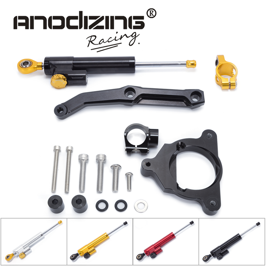 FREE SHIPPING For Kawasaki Z800 Z 800 2013 2014 2015 2016 Motorcycle Aluminium Steering Stabilizer Damper Mounting Bracket Kit for ktm 200 duke 2013 2014 390 duke 2014 2015 2016 motorcycle accessories steering damper stabilizer with mounting bracket kit
