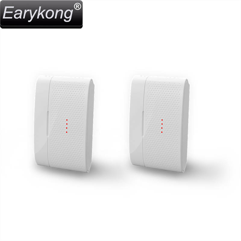 Free shipping new white Home Burglar Security Alarm  2pcs wireless Door magnetic sensor High quality GSM Alarm System 433 Mhz
