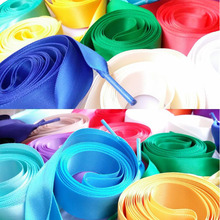 1 Pair 140cm Shoelaces Candy Color Flat Silk Ribbon Sneaker Shoe Strings 2cm Wide Solid Hot