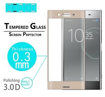 Película de vidrio de cobertura completa Premium para Sony Xperia XZS 3D,...