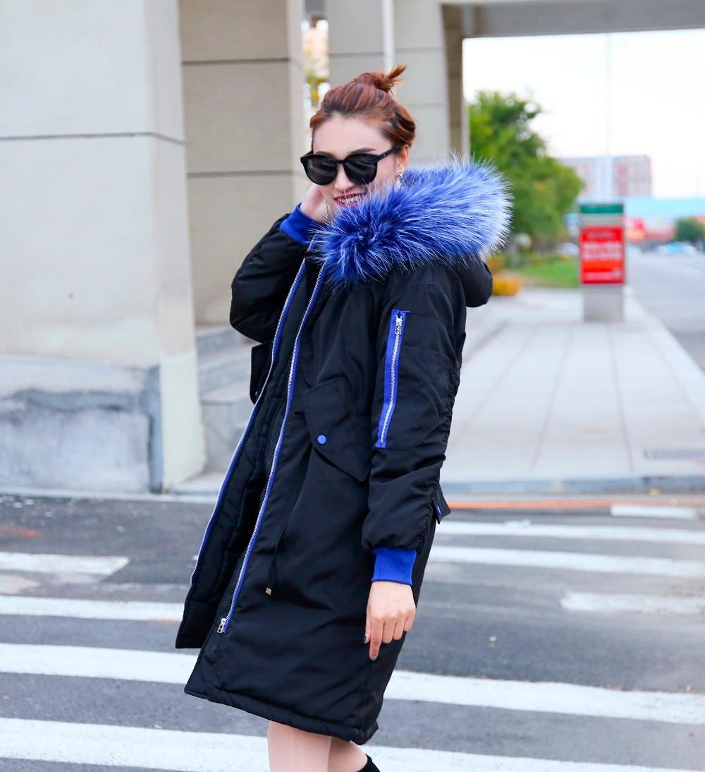 Long Col Nouvelle Femelle De Manteau Parkas Et Grand Veste Épais Version Vêtements Coréenne Capuchon Fourrure À 2018 Mode Hiver 0qFF6twx