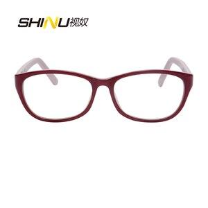 Image 3 - Anti Blauw Licht Leesbril Vrouwen Antifatigue Lange Sight Eyewear UV400 Bescherming Acetaat Brillen Oculos De Leitura LD016