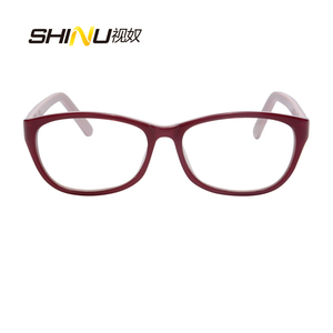 Image 3 - アンチブルーライト老眼鏡女性抗疲労視力眼鏡uv400保護アセテート眼鏡oculosデleitura ld016