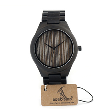 BOBO BIRD I24 Full Ebony Wooden Mens Watch With Luxury Tches Japan 2035 Movement Quartz Wristwatch As Gift For Men Relogio