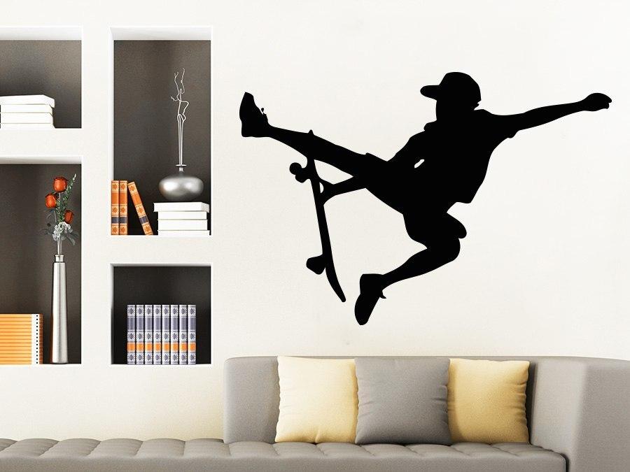 Boys Sports Skateboarder Wall Decal Athlete Vinyl Stickers