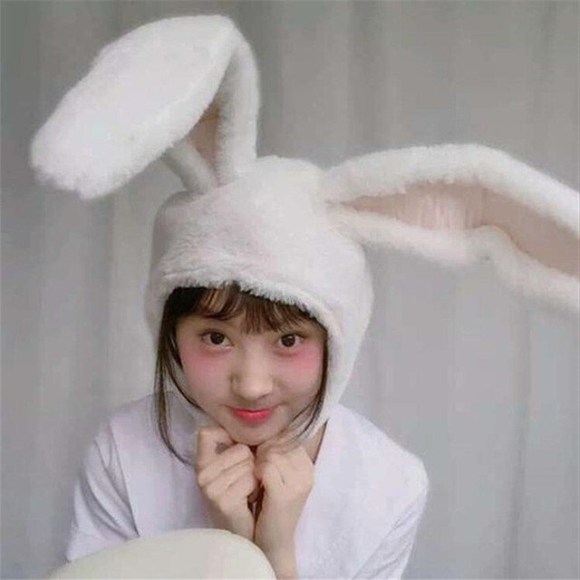 Плюшевая Шапка с ушами кролика 1