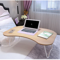 250325 Non Slip Sponge Foot Fold Lazy Simple Study Desk Thickened Panel Laptop Desk Bed Computer